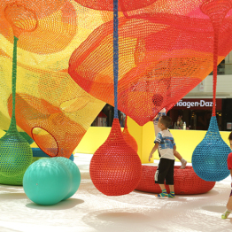 Color matching rope weaving ball hanging ball swing playground kindergarten shopping mall accessories