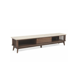 Weijing marble small family TV cabinet Nordic ash wood No.: v505